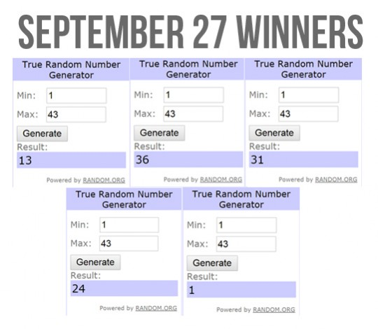 Slidefest September 27 Winners