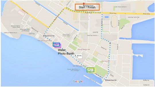 Color Run 3K Route