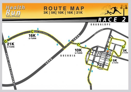 HEALTH RUN RACE ROUTE