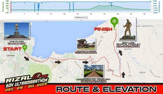 Rizal-day-50k-ultramarathon-race-map