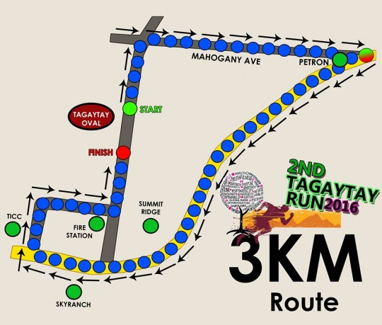 2nd-Tagaytay-RUn-3k-route