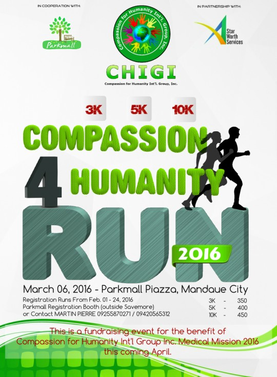 Compassion 4 Humanity Run Poster