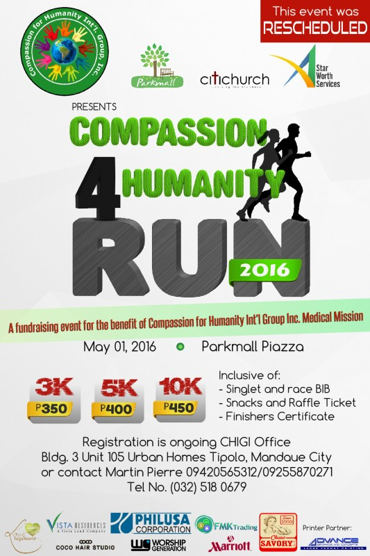 Compassion-Run-2016-Schedule