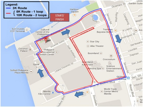 PAFP fun run ROUTE1