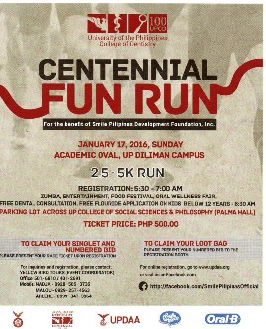 UP-College-of-Dentistry-Centennial-Fun-Run-poster