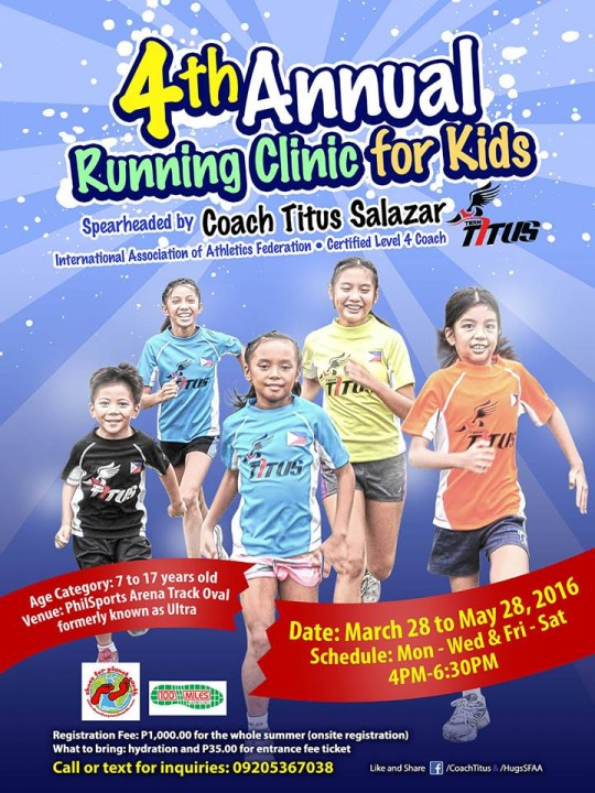 Annual-Running-Clinic-For-Kids-2016