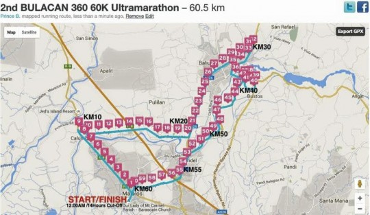 2nd-bulacan-360-60k-ultramarathon-race-route