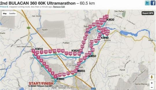 2nd-bulacan-360-60k-ultramarathon-race-route