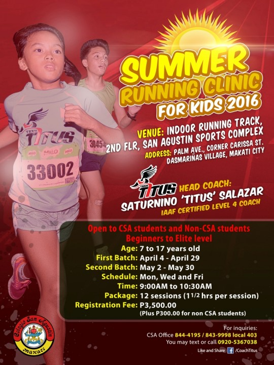 csa-summer-running-clinic-for-kids-poster