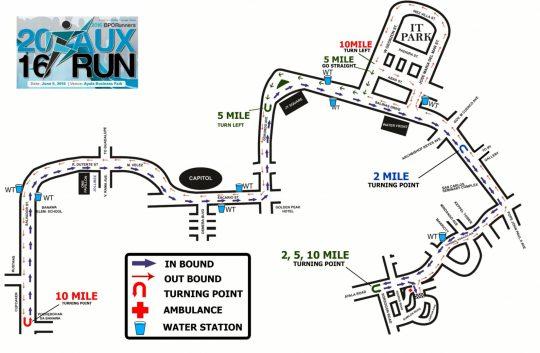 AUX RUN Route