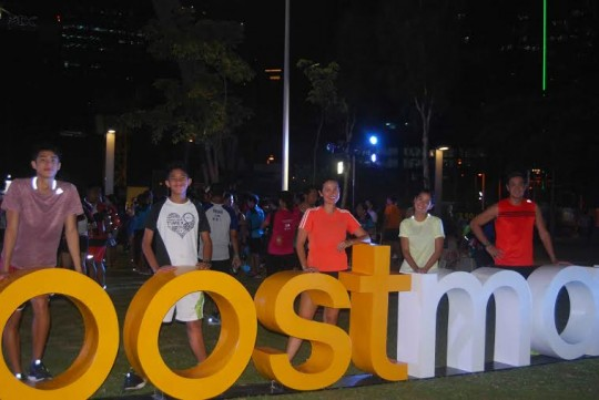 adidas ambassadors, Team Pangilinan also came to join their fellow runners during the event.  From L-R: Donny, Benj, Maricel, Ella, and Anthony.