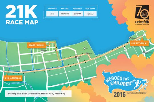 heroes-for-children-2016-21K-race-route