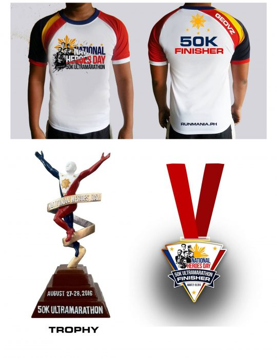 National-heroes-day-50k-ultramarathon-2016-finisher-shirt-medal-trophy