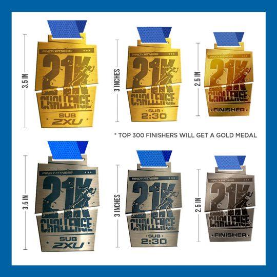PF 21K Challenge 2016 Medals 2