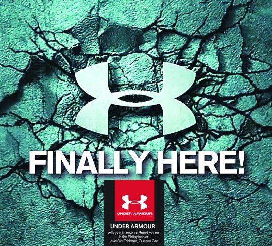 Under armour opens new store in trinoma mall pinoy fitness for Thrilla in manila shirt under armour