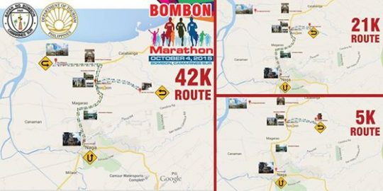 2nd Bombon Marathon 2016 Map