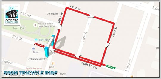BGC-Cycle-Phils-500m-Tricycle-Ride-Route-Map