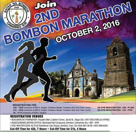 Poster  -  2nd Bombon Marathon 2016