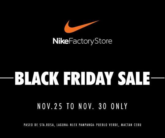 Agotamiento esta noche Doctrina  Nike Factory Stores Black Friday Sale | Pinoy Fitness