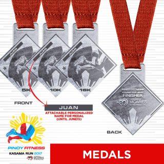 PF Kasama Run 2017 Medal (MCares)