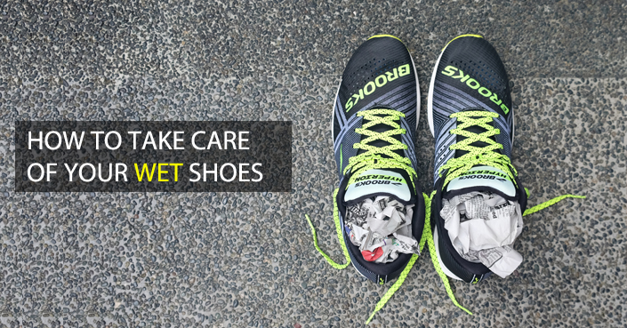 How to Take Care of your Wet Shoes