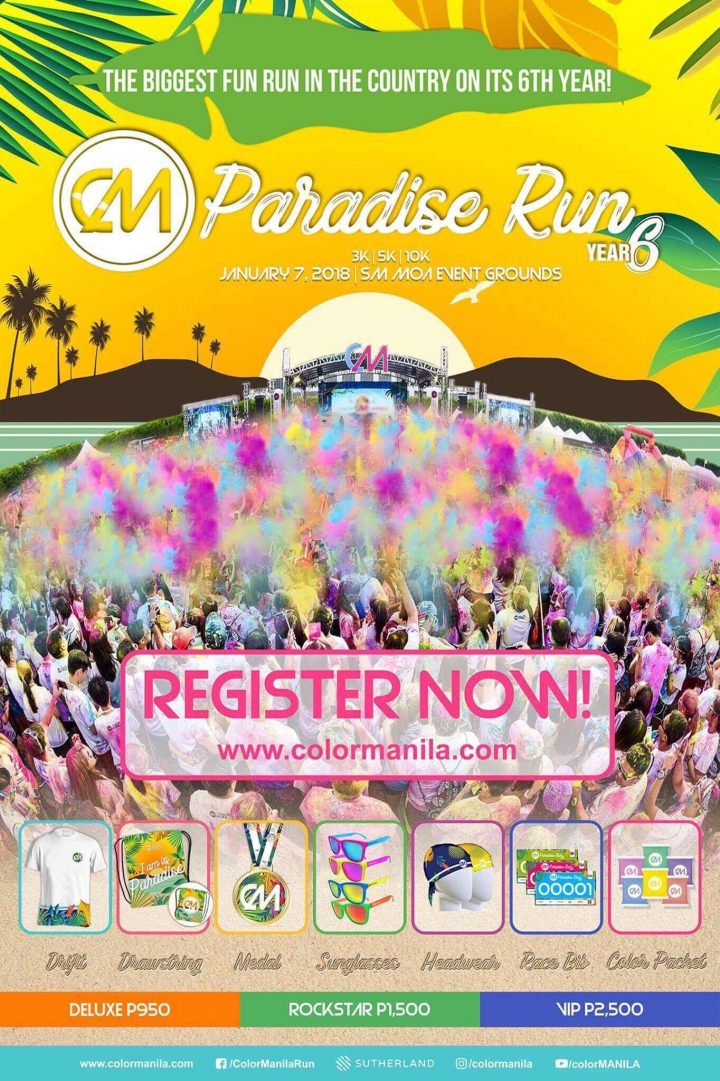 Color Manila Paradise Run 2018 in SM Mall of Asia | Pinoy Fitness