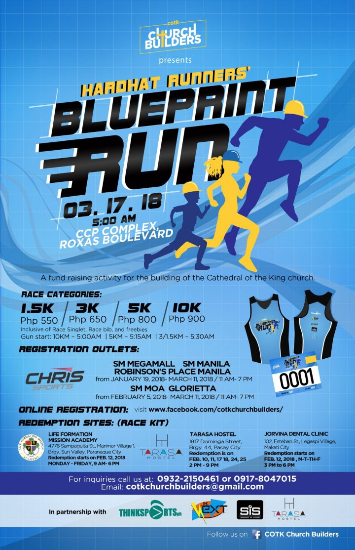 Blueprint run 2018 in ccp complex pinoy fitness when we come across the word blueprint we usually think of a technical drawing on blue and white paper that an architect creates which engineers then malvernweather Images