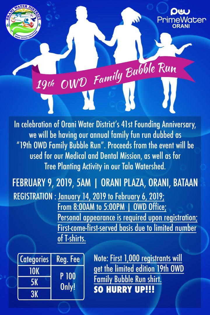 Owd Family Bubble Run 2019 In Bataan Pinoy Fitness