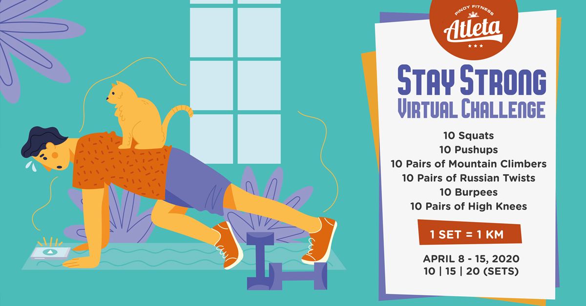 Stay Strong Virtual Workout Challenge Free Pinoy Fitness