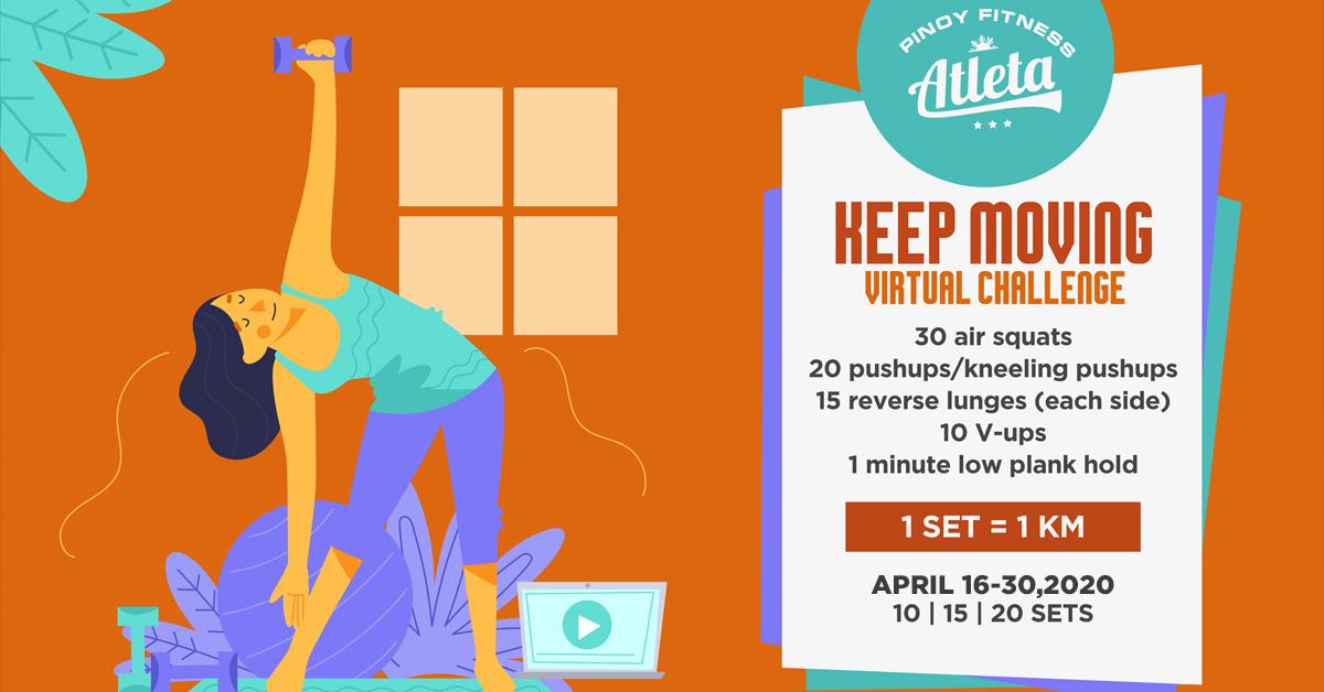 Keep Moving Virtual Workout Challenge Free Pinoy Fitness
